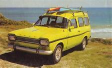 Old Print. Yellow 1972 Ford Escort Van Advertisement