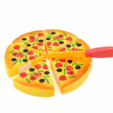 1x Kitchen Pizza Fast Food Slices Cutting Pretend Play Food Baby Training Yellow