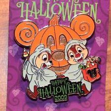 Disney Parks Chip Dale Happy Halloween 2009 Pumpkin LE 2750 Pin