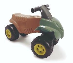 DANTOY OUTDOOR GARDEN GREEN BEAN CHILDRENS KIDS QUAD OFF ROAD ATV foot to floor