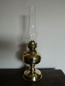 Lovely Brass Double Duplex Oil Lamp with Chimney