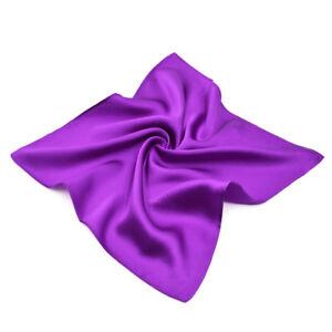 "Premium 100% Pure Mulberry Silk Solid Pocket Square Handkerchief Scarf 13.5"""