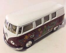Kinsmart Volkswagen Classical Bus 1:32 Diecast Car - EXCELLENT RARE PURPLE