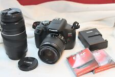 Canon EOS Rebel T7 digital camera outfit w/ 18-55mm, 75-300mm lenses & more!