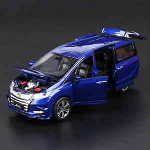 1:32 Honda Odyssey MPV Metal Diecast Alloy toy cars model Sound&Light Blue