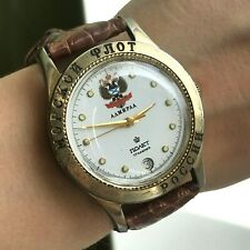 POLJOT Admiral Russian Navy Flag Limited Vintage Watch Double Eagle Men's MCHZ1