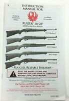 Ruger Instruction Manual for 10/22 .22 LR Auto Loading Rifles 2804-X