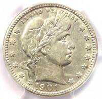 1901-O Barber Quarter 25C - Certified PCGS XF Details - Rare Date - Looks AU!