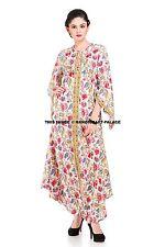 598de9c527 Indian Cotton Hand Print Tunic Beautiful Beach Wear One Piece Woman Long  Dress