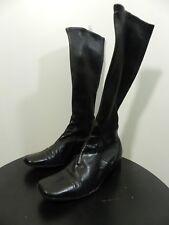 chaussures bottes cuir noir Céline pointure 35,5 tbe  (B8)