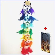 Dream catchers large long 7 ring rainbow kids room hanging bad dreamcatchers