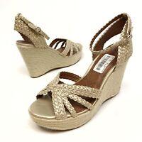 Lucky Brand Lainey Women's Espadrilles Wedge Sandals Sz 9.5M Eu39.5 Ankle NWOB