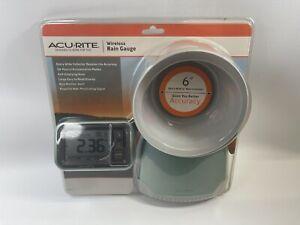 "AcuRite Wireless Rain Gauge Extra Wide 6"" Rain Collector Self-Emptying Base NEW"