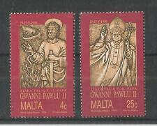 MALTA 1990 VISIT OF POPE JOHN PAUL SG,874-875 UM/M NH LOT 2221A