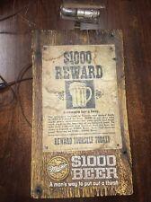 original &1000 Beer Reward Miller beer barn board advertising lighted bar sign