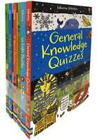 Usborne Puzzles Activities 6 Books Collection Set General Knowledge Quizzes PB