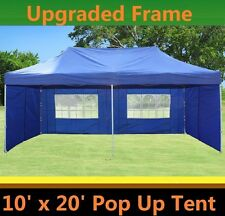 10'x20' Pop Up Canopy Party Tent - Blue - F Model Upgraded Frame