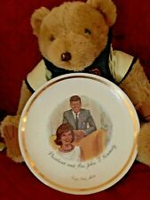 President John F. Kennedy and Mrs. Jacqueline Kennedy Commemorative Plate