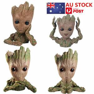 4Pcs Baby Movie Action Figure Role Pen Pot,Moss Plant Flowerpot Tree Man Planter