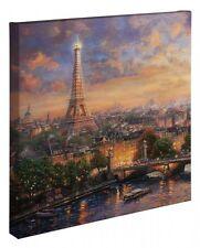"Thomas Kinkade Wrap - Paris City Of Love – 20"" x 20"" Wrapped Canvas"