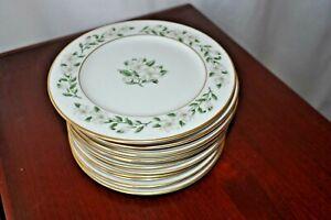 "Set of 4 Princess China Bridal Wreath Salad / Luncheon Plates 8"" Magnolia Nice!"