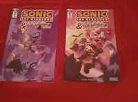 Lot of 2 Sonic the Hedgehog Tangle and Whisper IDW 2019 Comics Cover 1A 1B NM