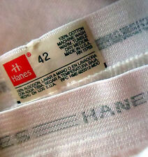 42 VINTAGE 90s HANES-RED-GRAY STRIPED BAND-WHITE BRIEF-USA MADE-NEW OLD STOCK