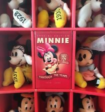 *RARE* Disney Store Exclusive 75th MINNIE MOUSE Plush Doll Set THROUGH THE YEARS