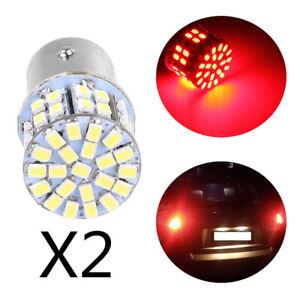 2 x Red Light 1157 BAY15D 50 SMD 1206 LED Car Tail Stop Brake Lamp Bulb 3W 12V