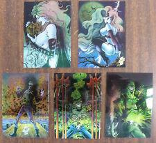 1994 Evil Ernie & Lady Death 5 Card Chrome Set