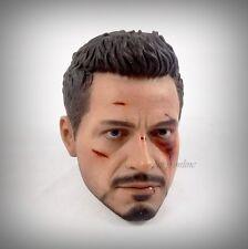 Hot Toys Iron Man 3 TONY STARK (THE MECHANIC) Figure 1/6 BATTLE DAMAGED HEAD