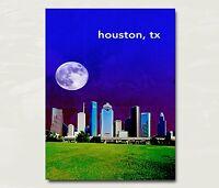 "Fort Worth Texas City Skyline Art Travel Poster Original Design 12x16/"" B19"
