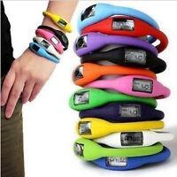 Hot Digital Rubber Jelly Anion Negative Ion Sport Bracelet Wrist Watch Pop UK