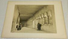 "1850 Antique Print/CLOISTER AT TONGRES, BELGIUM/14x21"""