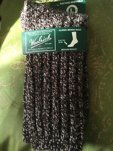 WOOLRICH WR8291 MERINO WOOL RAGG SOCKS IN LEATHER (Brown) SIZE LARGE NWT