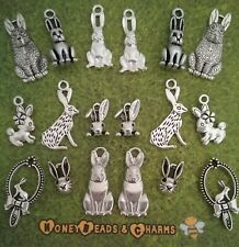 ❤ Rabbit Themed Charms ❤ Set of 18 ❤ CRAFTING/JEWELLERY MAKING ❤