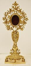 """LARGE BRASS ANGEL RELIQUARY FOR YOUR RELIC - 15"""" - 161 - (CHURCH, RELIGIOUS,)"""