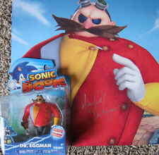 Tomy SONIC BOOM Dr. Eggman figure with signed print - MIKE POLLOCK voice actor