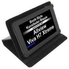 Tasche für Allview Viva H7 Xtreme Book-Style Tablet Schutz Hülle Case Schwarz