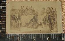 CDV Civil War era Abraham Lincoln Deathbed Scene