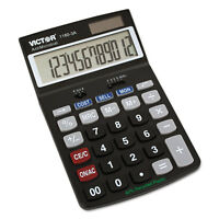 Victor 1180-3A Antimicrobial Desktop Calculator 12-Digit LCD 11803A