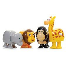 CLOCKWORK WILD ANIMALS - WIND UP FUN TOY FOR KIDS GIRAFFE GORILLA LION ELEPHANT