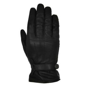 Leather Motorcycle Gloves > Oxford Holton Classic Short Water Resistant - Black