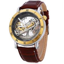 JARAGAR SHENHUA Unisex Skeleton Fashion Auto Mechanical Watch Transparent Roman