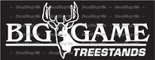 Big Game Treestands - Hunting/Outdoors - Car Vinyl Die-Cut Peel N' Stick Decals