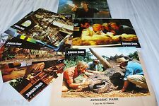 JURASSIC PARK  ! spielberg jeu complet 12 photos cinema lobby cards dinosaures