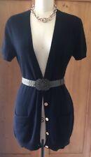 Michael Kors Medium Cashmere Long Vest Gold Logo Buttons