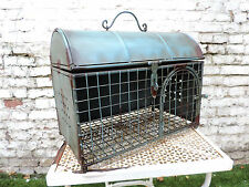 UNIQUE VINTAGE STYLE INDUSTRIAL CAGE BIRD ANIMAL FARM DISPLAY SHABBY CHIC