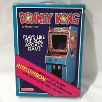 Donkey Kong by Nintendo for INTELLIVISION System n Sears Video Arcade Complete