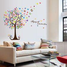 Wandtattoo Wandsticker Baum Schmetterling Romantik bunt Dekor